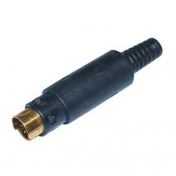 PL-194SG Mini Din 4 Pin Plug