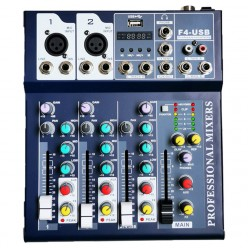AS-MX4 4 Channel Mixer