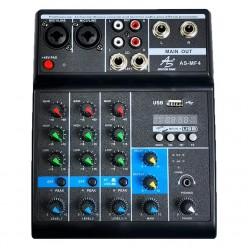 AS-MF4 4 Channel Mini Mixer
